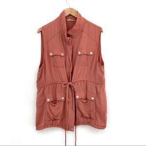Entro | XL Salmon Pink Light Drawstring Vest